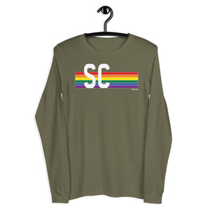 South Carolina Pride Retro Rainbow - Unisex Long Sleeve Tee