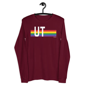 Utah Pride Retro Rainbow - Unisex Long Sleeve Tee