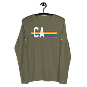 California Pride Retro Rainbow - Unisex Long Sleeve Tee