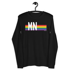 Minnesota Pride Retro Rainbow - Unisex Long Sleeve Tee