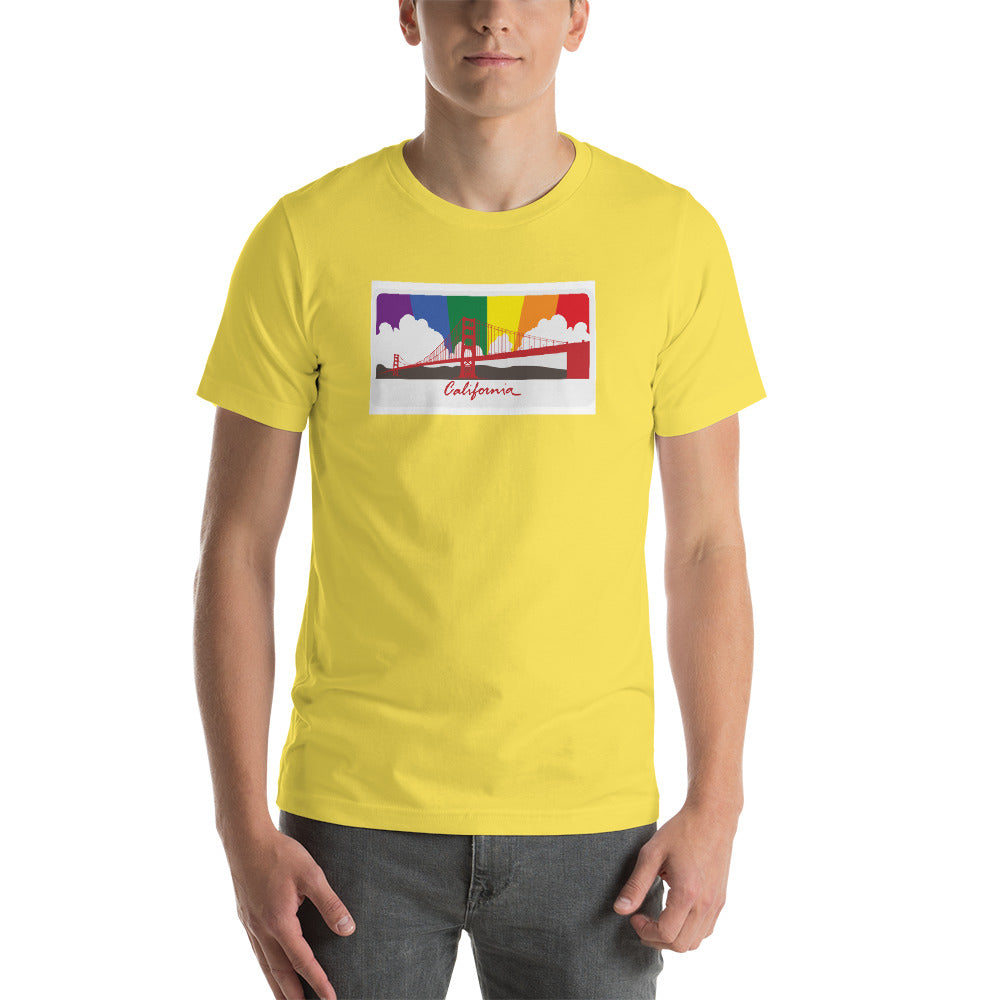 California Rainbow Sunset - CA Pride - Short-Sleeve Unisex T-Shirt