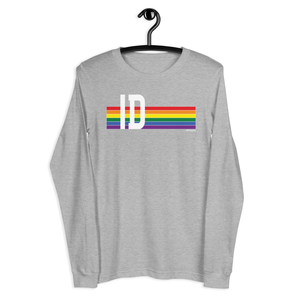 Idaho Pride Retro Rainbow - Unisex Long Sleeve Tee