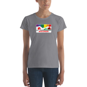 Wisconsin Pride Rainbow Sunset Women's short sleeve t-shirt