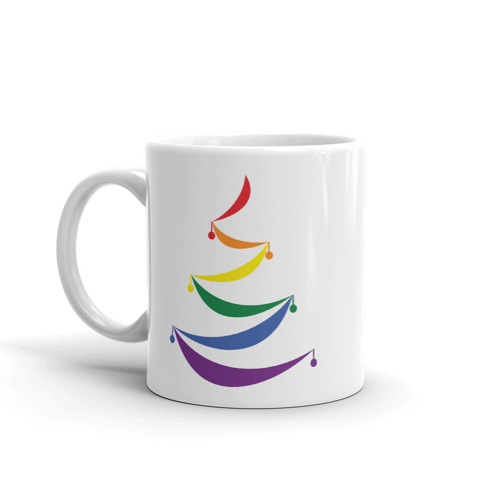 Abstract Swag Pride Tree Holigay Mug