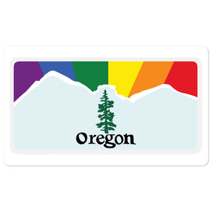 Oregon Pride Rainbow Sunset sticker