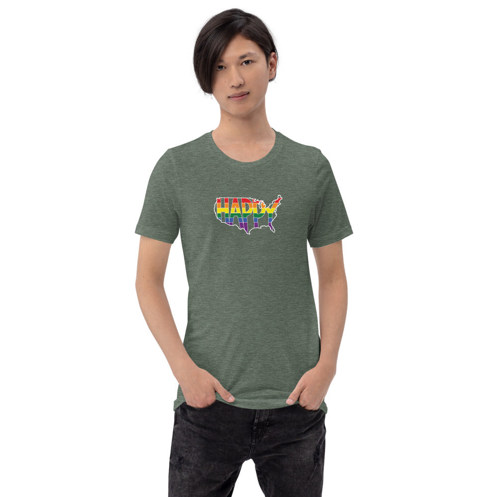 America Happy - Retro Pride - Short-Sleeve Unisex T-Shirt
