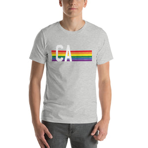 California Pride Retro Rainbow Short-Sleeve Unisex T-Shirt