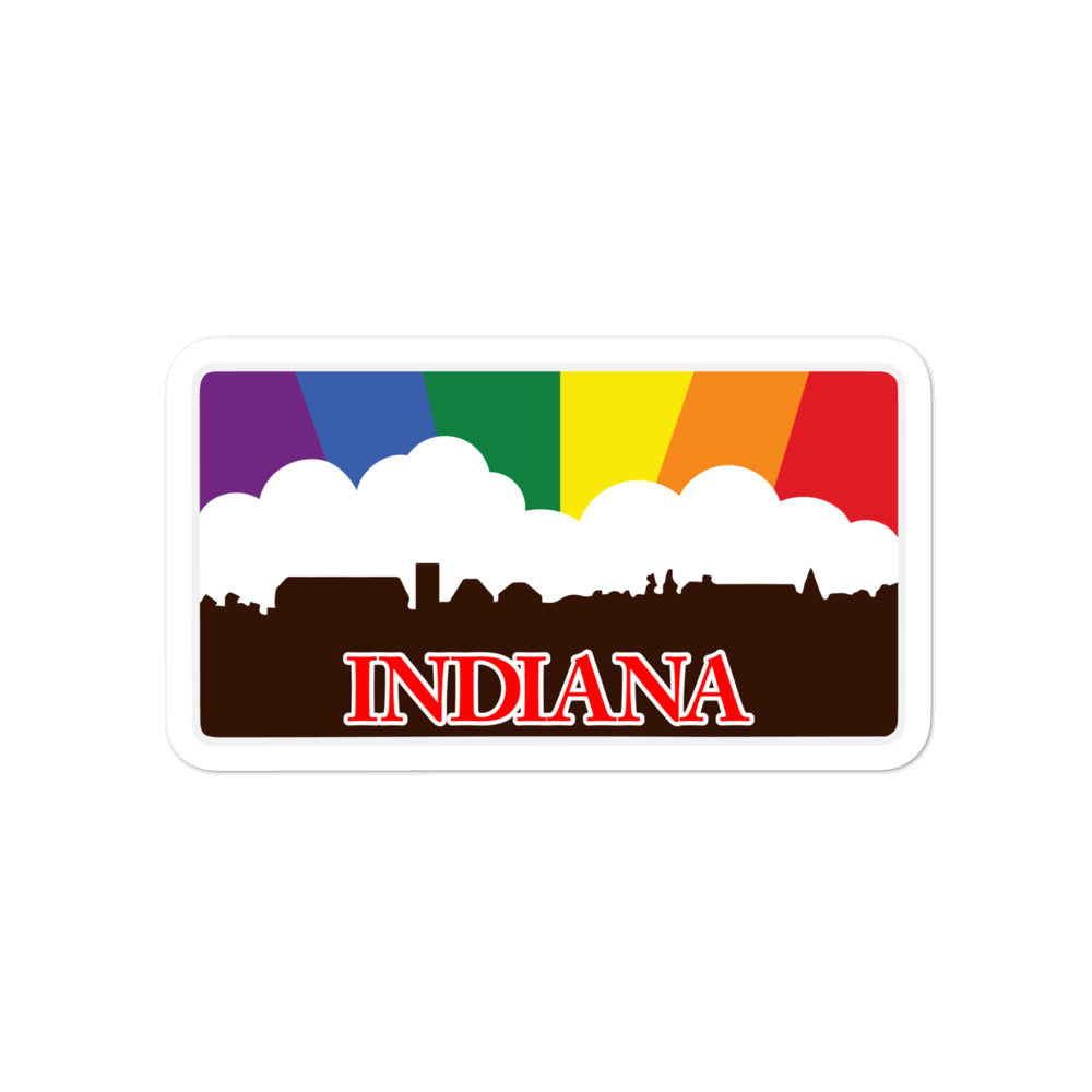 Indiana Rainbow Pride Sunset sticker