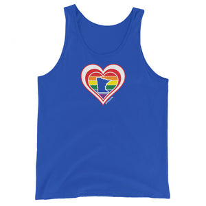 Minnesota Retro Pride Heart - Unisex Tank Top