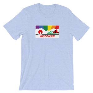 Wisconsin Pride Rainbow Sunset Short-Sleeve Unisex T-Shirt
