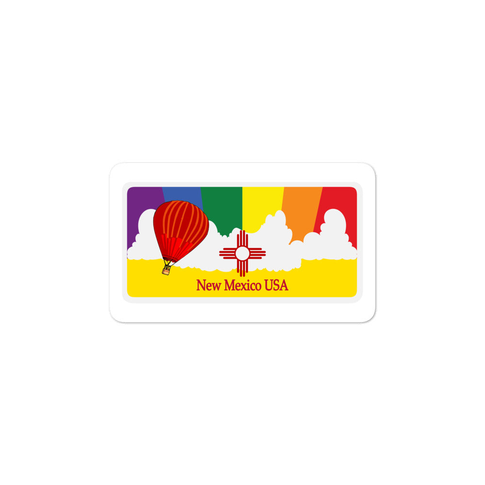New Mexico Pride Rainbow Sunset sticker