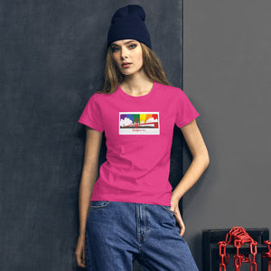 California Pride Rainbow Sunset Women's short sleeve t-shirt