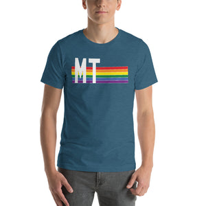 Montana Pride Retro Rainbow Short-Sleeve Unisex T-Shirt