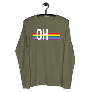 Ohio Pride Retro Rainbow - Unisex Long Sleeve Tee