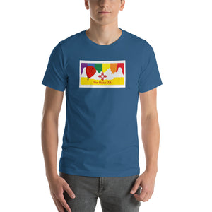 New Mexico Rainbow Sunset - NM Pride - Short-Sleeve Unisex T-Shirt