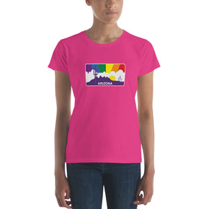 Arizona Pride Rainbow Sunset Women's short sleeve t-shirt