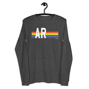 Arkansas Pride Retro Rainbow - Unisex Long Sleeve Tee