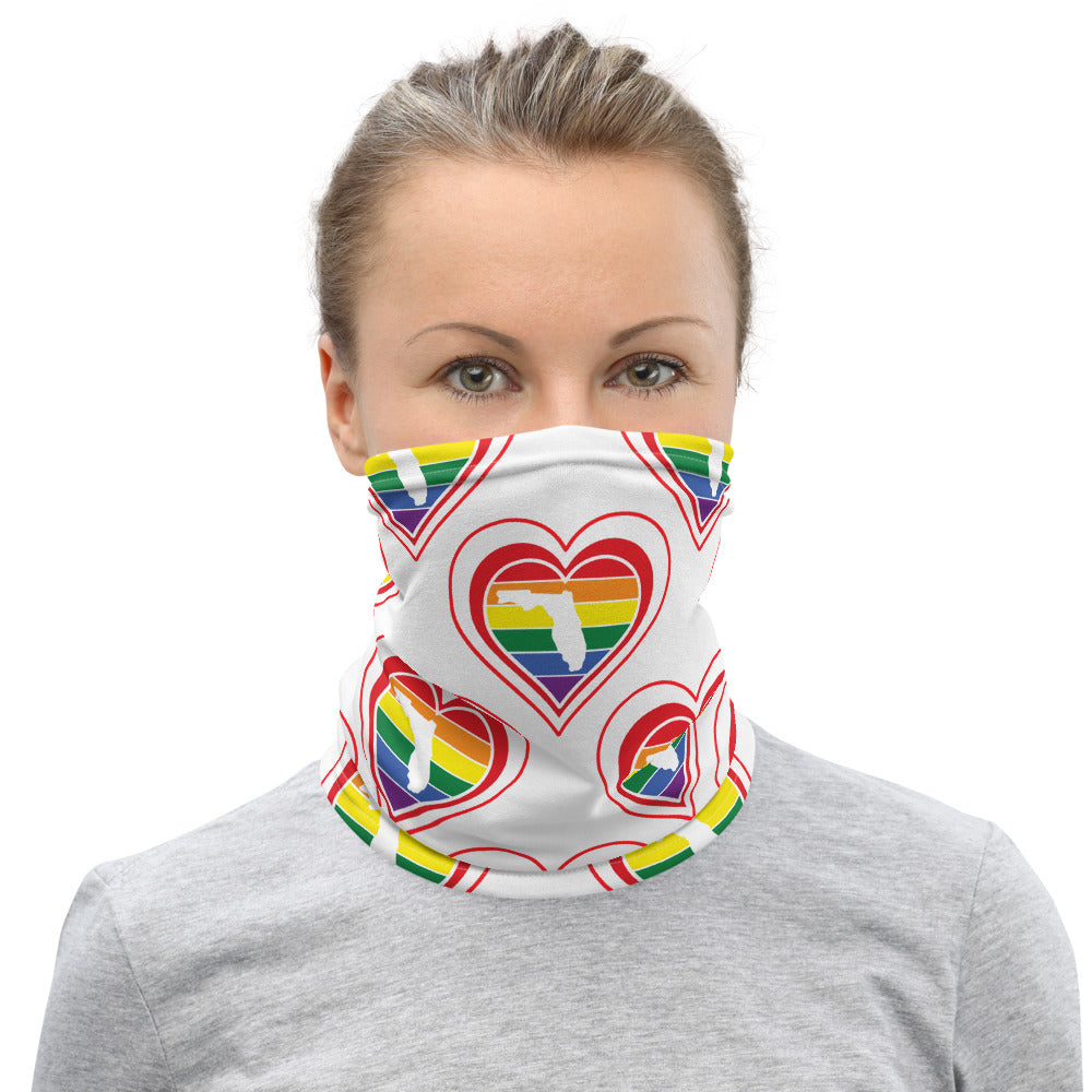 Florida Retro Pride Heart - Neck Gaiter
