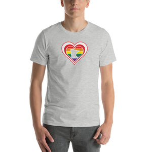 Minnesota Retro Pride Heart - Short-Sleeve Unisex T-Shirt