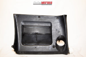 1969 Corvette Rh Lower Dash w/ Map Pocket - Original - Black (no stitching)