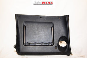 1969 Corvette Rh Lower Dash - Original - Black (no stitching)
