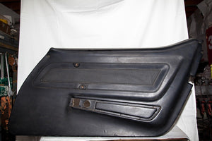 1970-1977 Corvette RH (passenger) Black Door Panel - Dated July 71