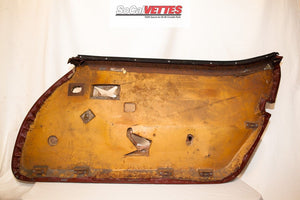 1978-1982 Corvette LH (Driver) Door Panel RED- Original