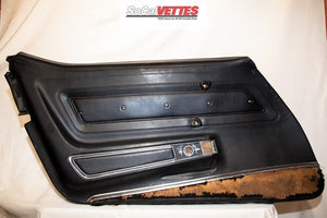 1970-1977 Corvette LH (Driver) Door Panel - Original - Deluxe Black