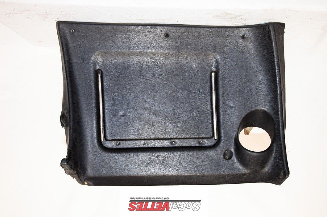 1969 Corvette RH (Passenger) Lower Dash (No stitching) Black