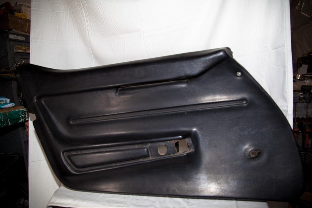1968 Corvette LH (Driver) Black Door Panel (Manual Window)