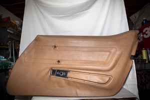 1970-1977 Corvette RH (Passenger) Medium Saddle Door Panel - Dated Jan 1972