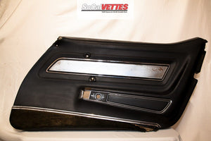 1970-1977 corvette (RH) Passenger Door Panel - Original - Black Deluxe