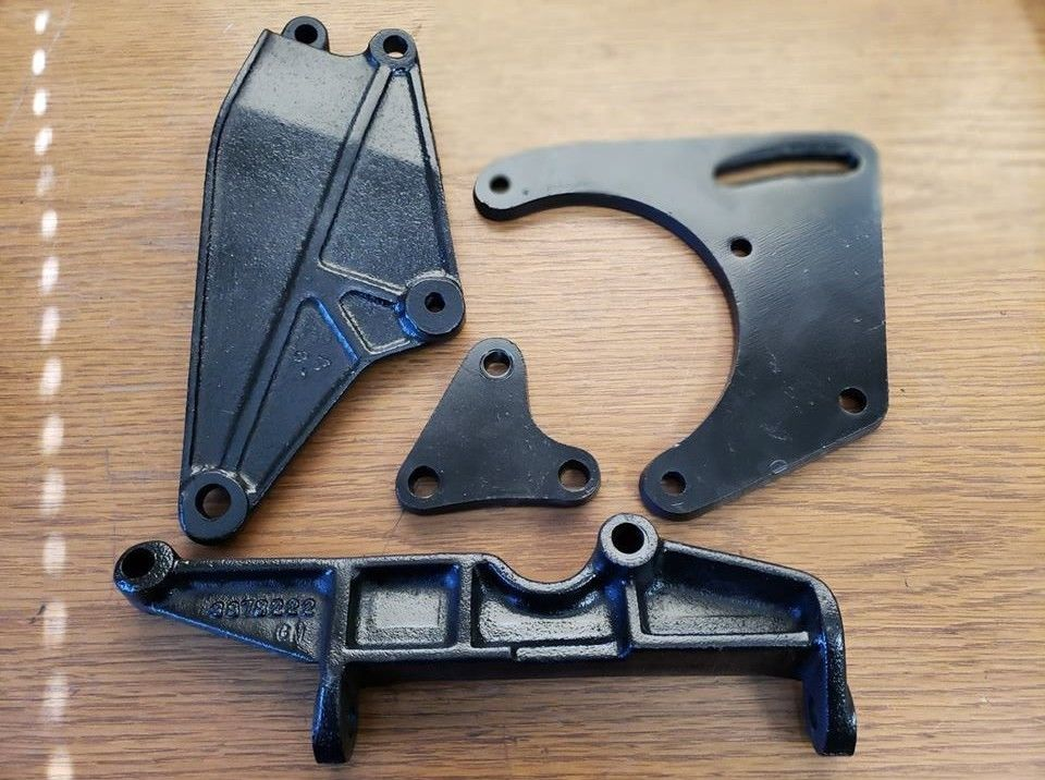 Original 1965-1976 SBC AC Compressor Mounting Brackets