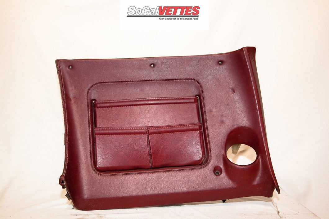 1970-1977 Corvette RH (Passenger) Lower Dash - Original - Dark Red/ Maroon