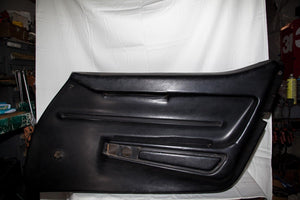 1968 Corvette RH (Passenger) Black Door Panel ( Manual Windows )