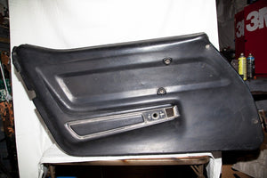 1969 Corvette LH (Driver) Black Door Panel