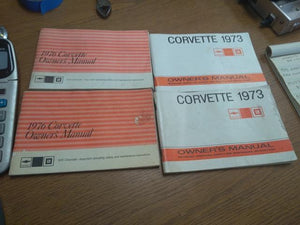 Original Owners Manual 1973 Corvette