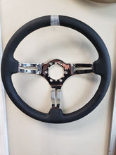 1968-1982 Corvette Steering Wheel  Black Leather & Chrome 3 spoke**New**