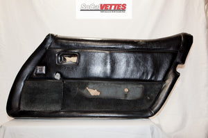 1978-1982 Corvette RH Door Panel - Original - Black