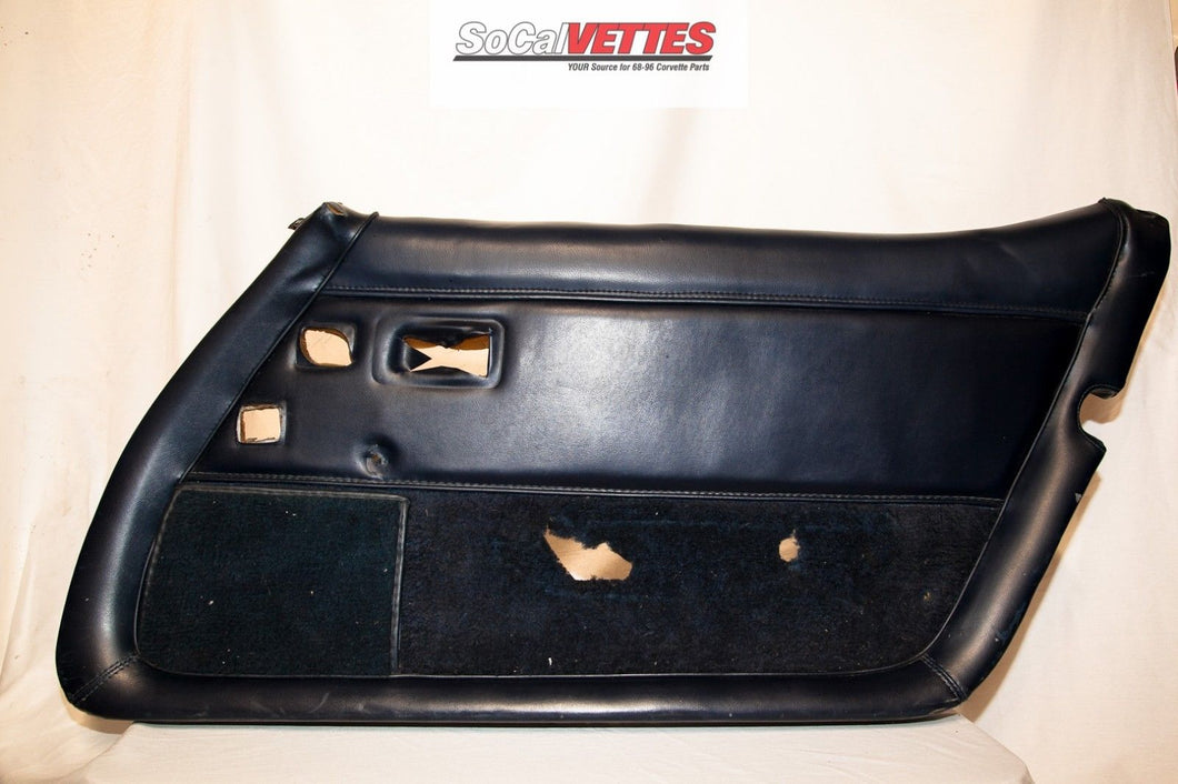 1978-1982 Corvette RH (Passenger) Door Panel Black - Original