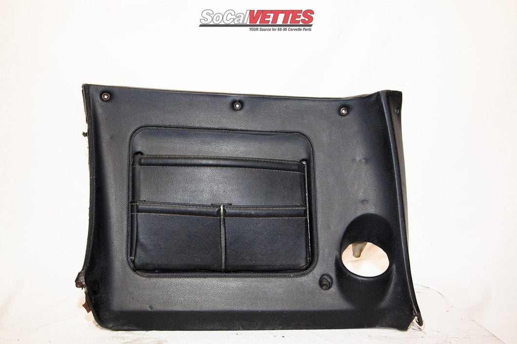 1970-1976 Corvette Rh Lower Dash w/ Map Pocket - Original - Black