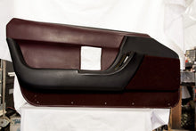 1990-1993 Corvette LH Door Panel - Original Dark Red/Black
