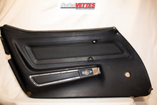 1970-1977 corvette (LH) Driver Door Panel - Original - Black (Manual window)