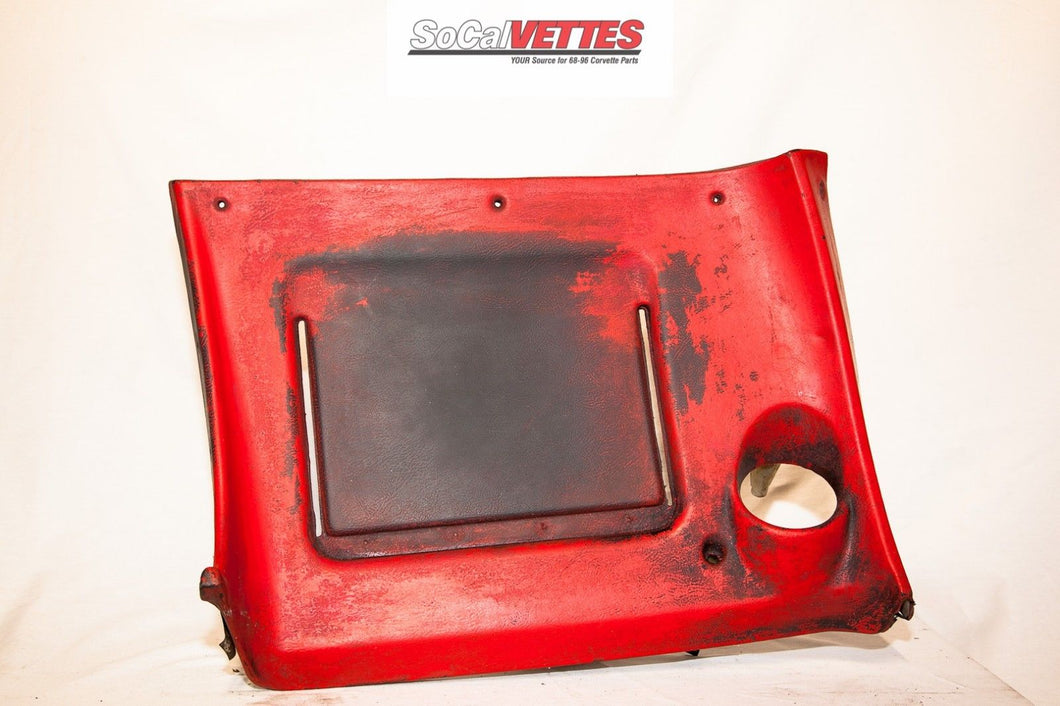 1970-1977 Corvette RH (Passenger) Lower Dash - Original -9750557 Red