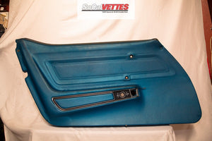 1970-1977 Corvette LH (Driver) Door Panel - Original - Blue