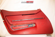 1968 Corvette LH (Driver) Door Panel - Original - Red
