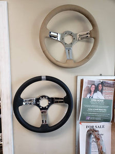 1968-1982 Corvette Steering Wheel Tan Leather & Chrome 3 Spoke **NEW