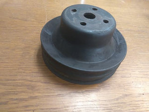1975-1981 Corvette SBC Water Pump Pulley - Deep 2 Groove GM# 14023159