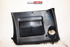 1969 Corvette RH (Passenger) Lower Dash - Original -9750557 Black (No Stitching)