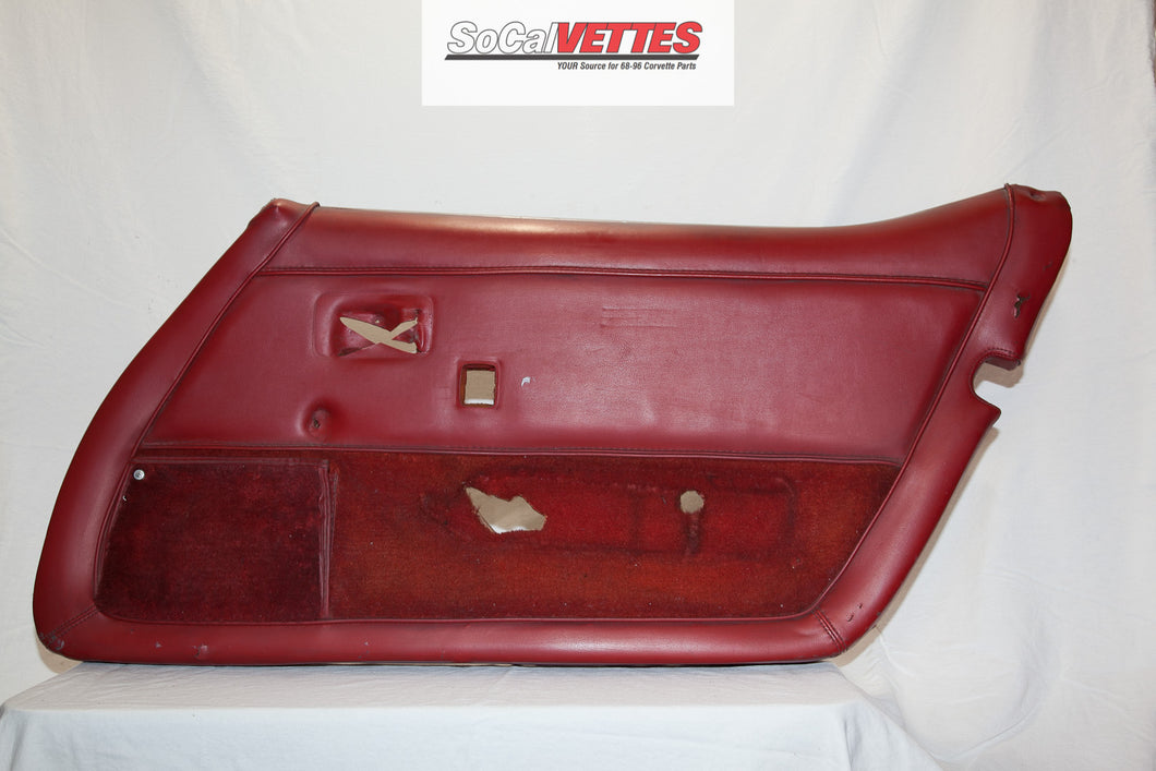 1978-1982 Corvette RH(Passenger) Door Panel - Original - Red